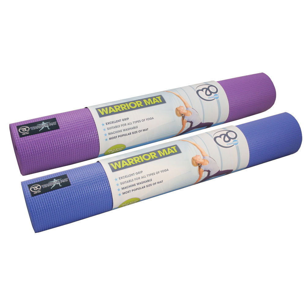 Fitness Mad Warrior Yoga Mat 4mm - Blue -DS