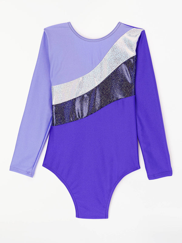 Longsleeve Gym Leotard Senior - Purple