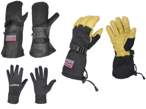 SKI GLOVE BUNDLE - Norrgear best winter gloves snow mittens