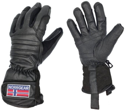 Women's Skiing Glove Leather - HARBIN - Norrgear best winter gloves snow mittens