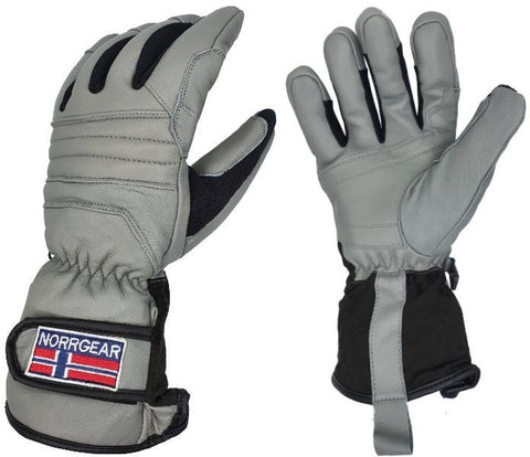 Men's Skiing Glove Leather - HARBIN - Norrgear best winter gloves snow mittens