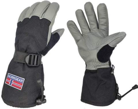 Men's Winter Ski Glove Leather - HELSINKI - Norrgear best winter gloves snow mittens