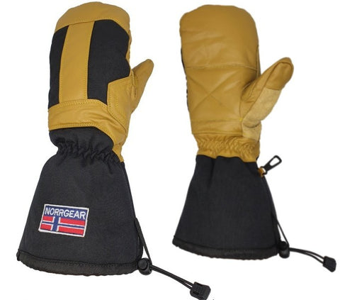 Men's Snowboarding Mitten Leather - HOKKAIDO - Norrgear best winter gloves snow mittens