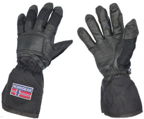 Women's Ski Glove Leather with Removable Liner - KIRUNA - Norrgear best winter gloves snow mittens