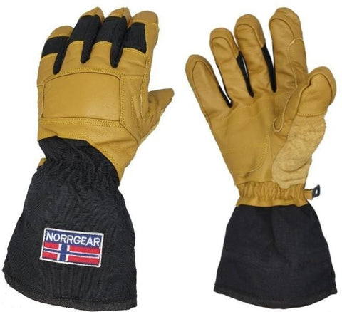 Men's Ski Glove Leather with Removable Liner - KIRUNA - Norrgear best winter gloves snow mittens