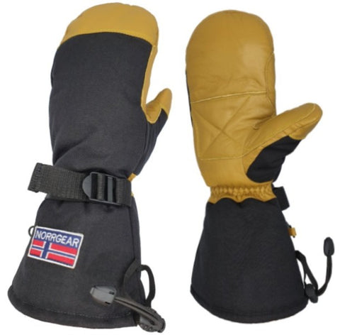 Men's Snowboarding Mitten Leather - REYKJAVIK - Norrgear best winter gloves snow mittens