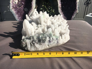 Load image into Gallery viewer, RARE Opaque White Quartz Cluster with Fluorite