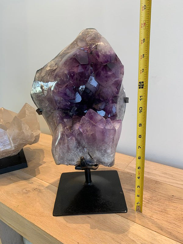 Load image into Gallery viewer, Large Amethyst Geode on Custom Iron Stand