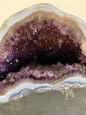 Amethyst Crystal Cave with Polished Back
