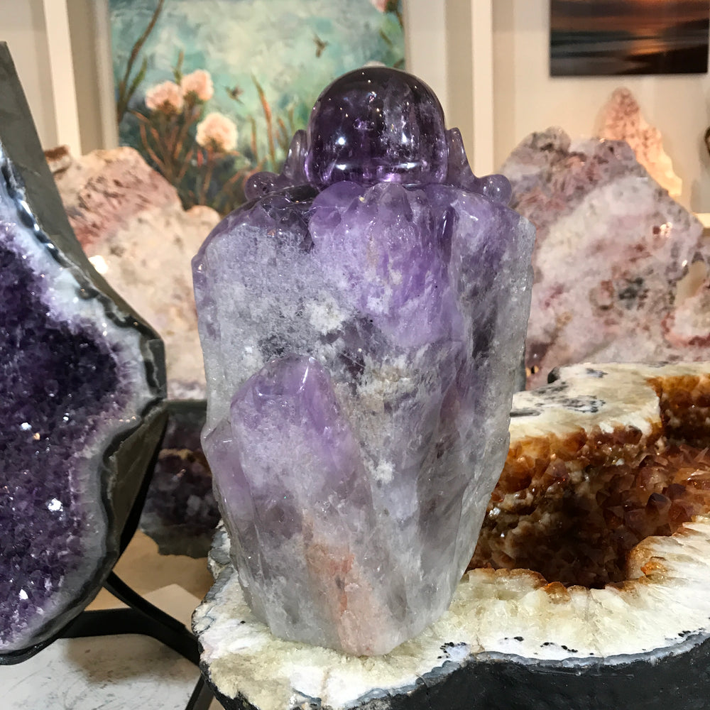Load image into Gallery viewer, Amethyst Buddha