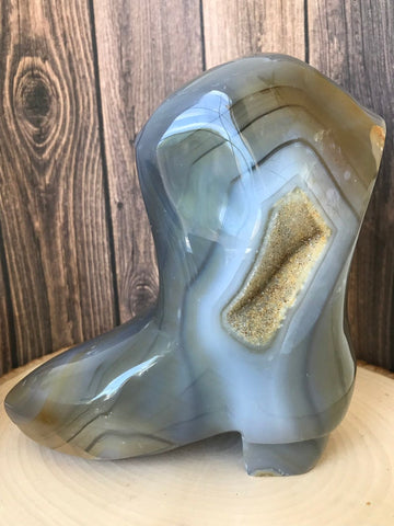 Agate Druzy Boot