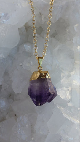 Amethyst Necklace, Raw