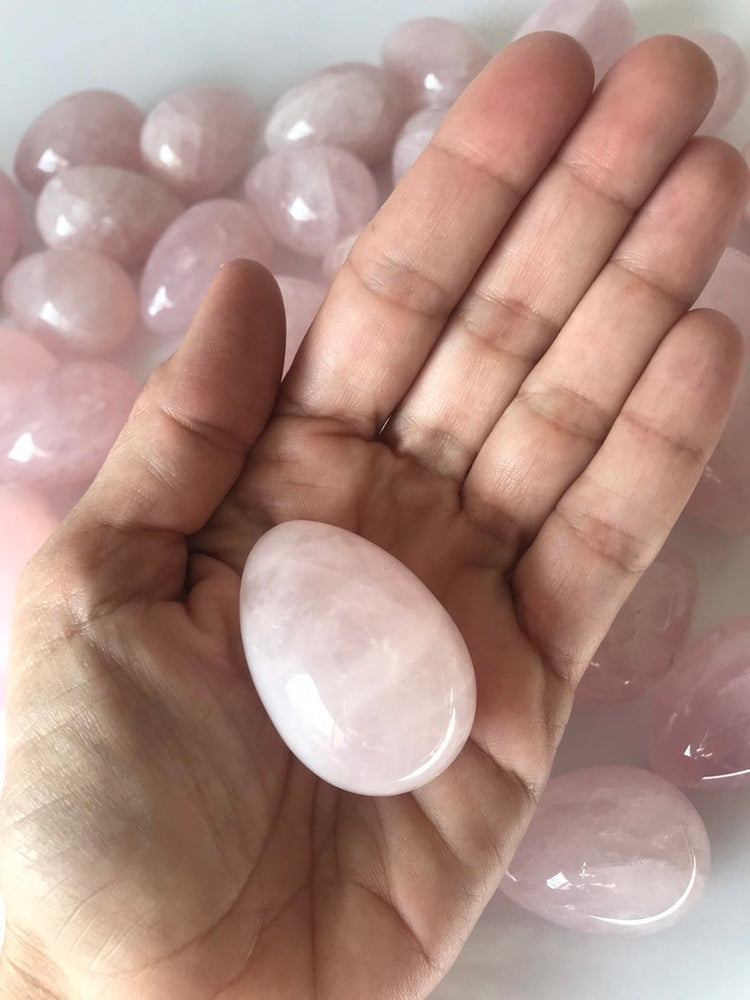 Load image into Gallery viewer, Rose Quartz Egg, Crystal Yoni Egg