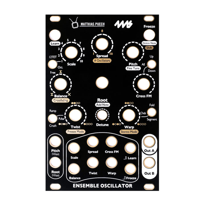 4ms Ensemble Oscillator Faceplate - Black