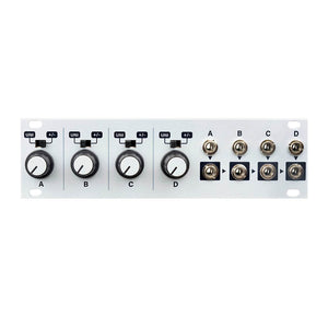 Intellijel Designs Quadratt 1U Quad Attenuator & Mixer