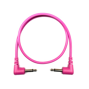 Tendrils Right Angled Eurorack Patch Cable 6/pk - Magenta
