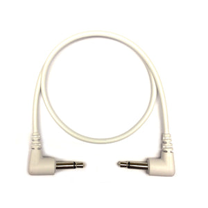 Tendrils Right Angled Eurorack Patch Cable 6/pk - White