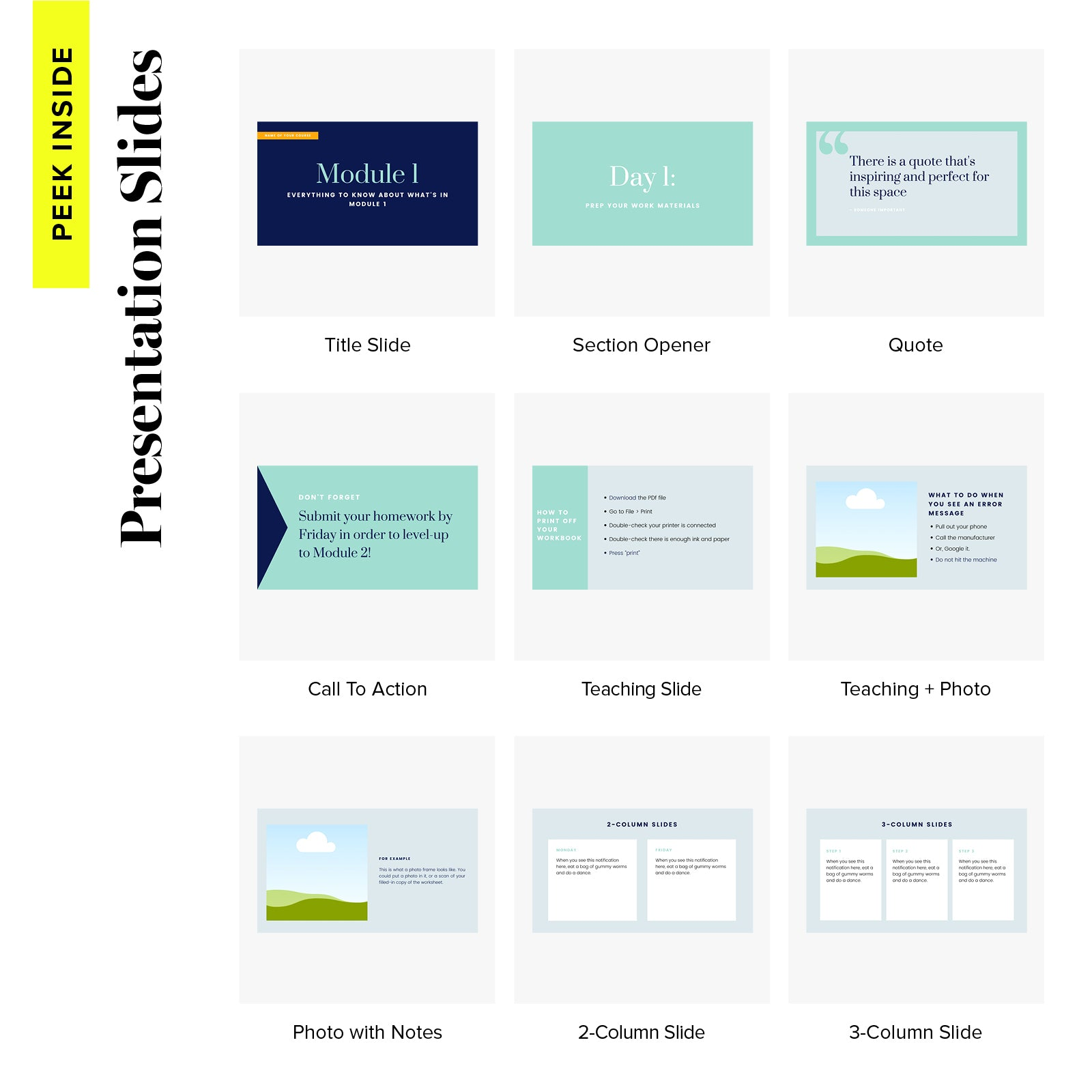 Course Design Kit Slides - Positively Simplified