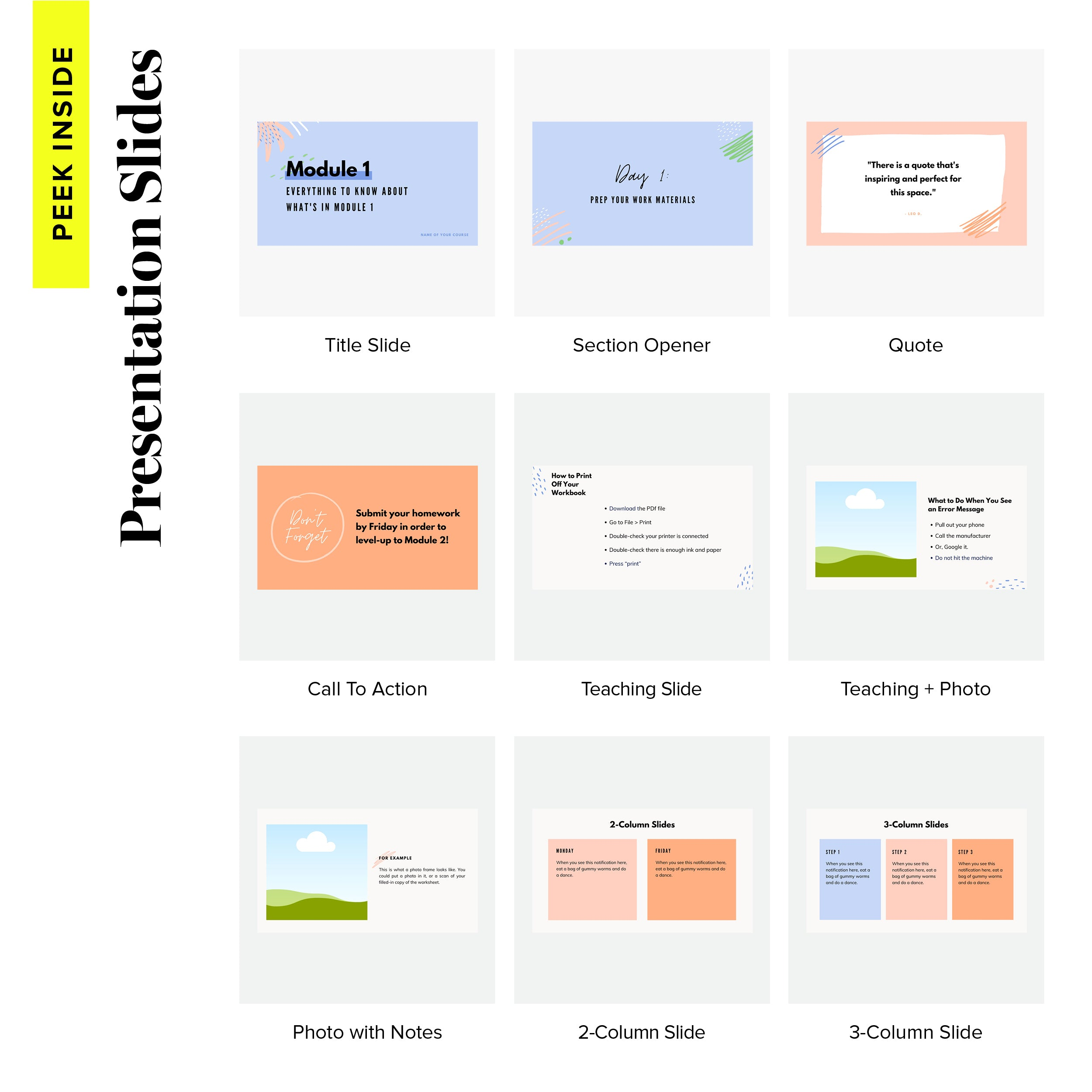 Course Design Kit Slides - Scribble & Scrawl