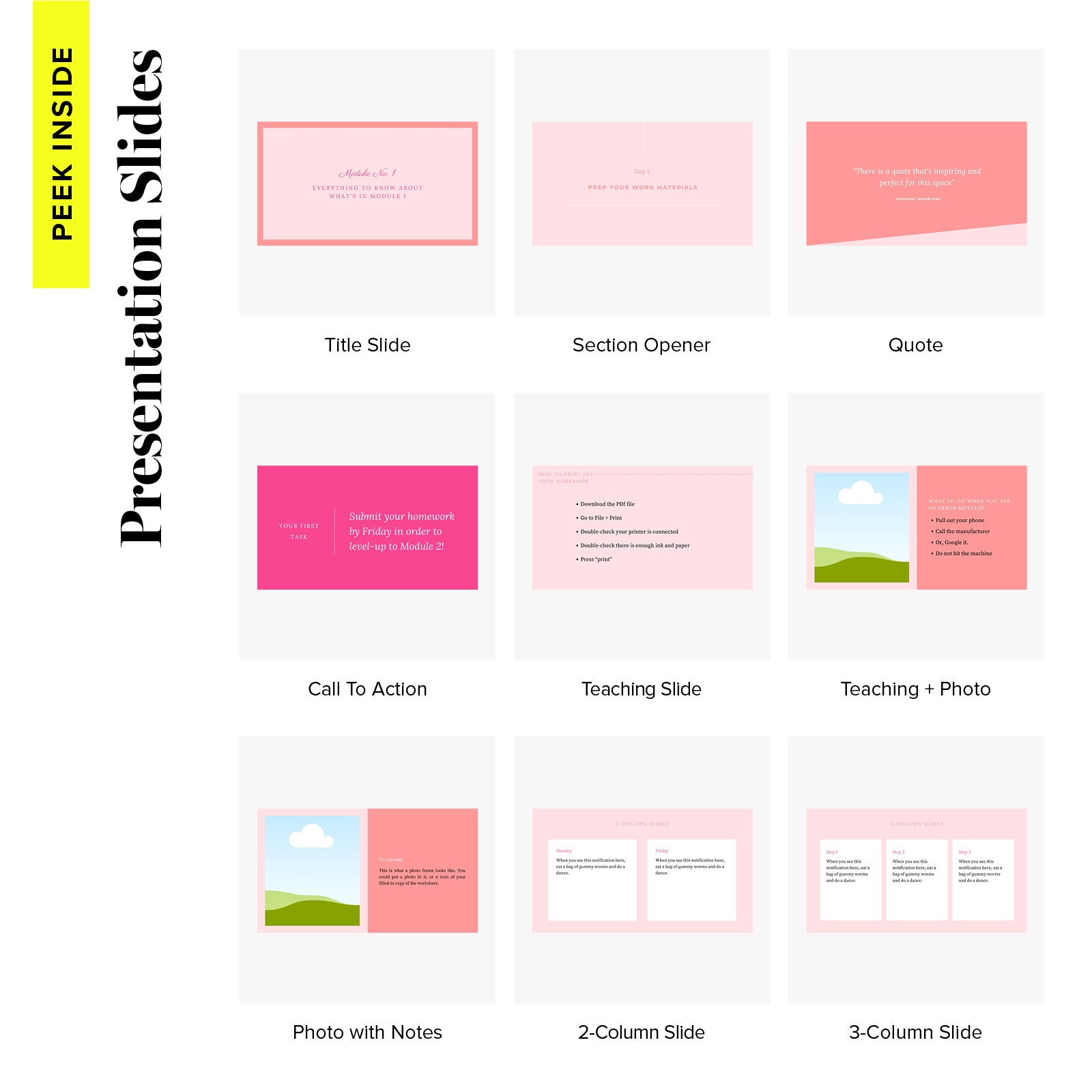 Course Design Kit Slides - Sweet Sophisticate