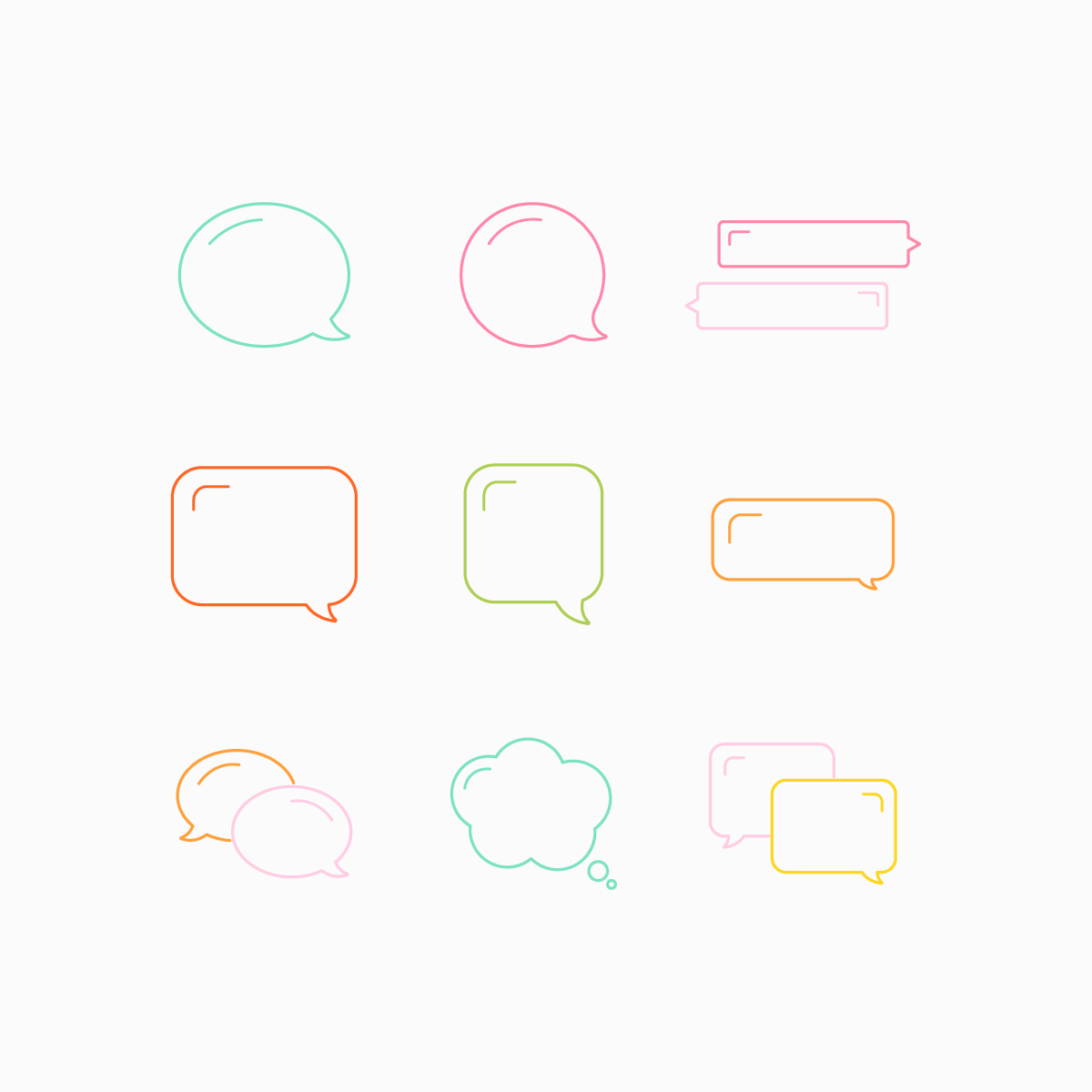 Conversation Bubbles Set