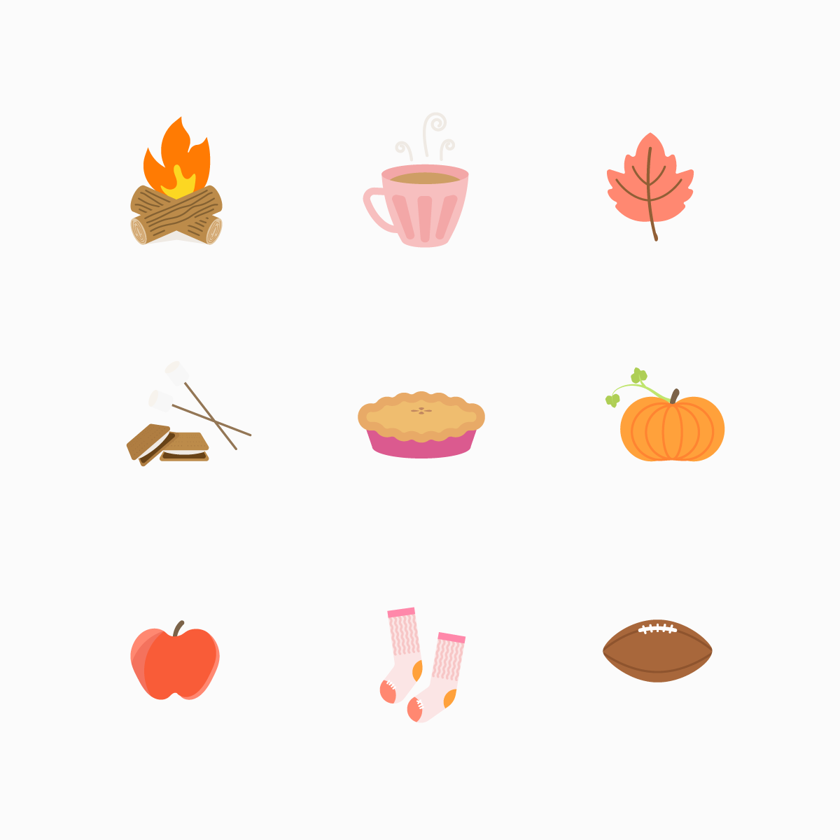 Fall Icon Set