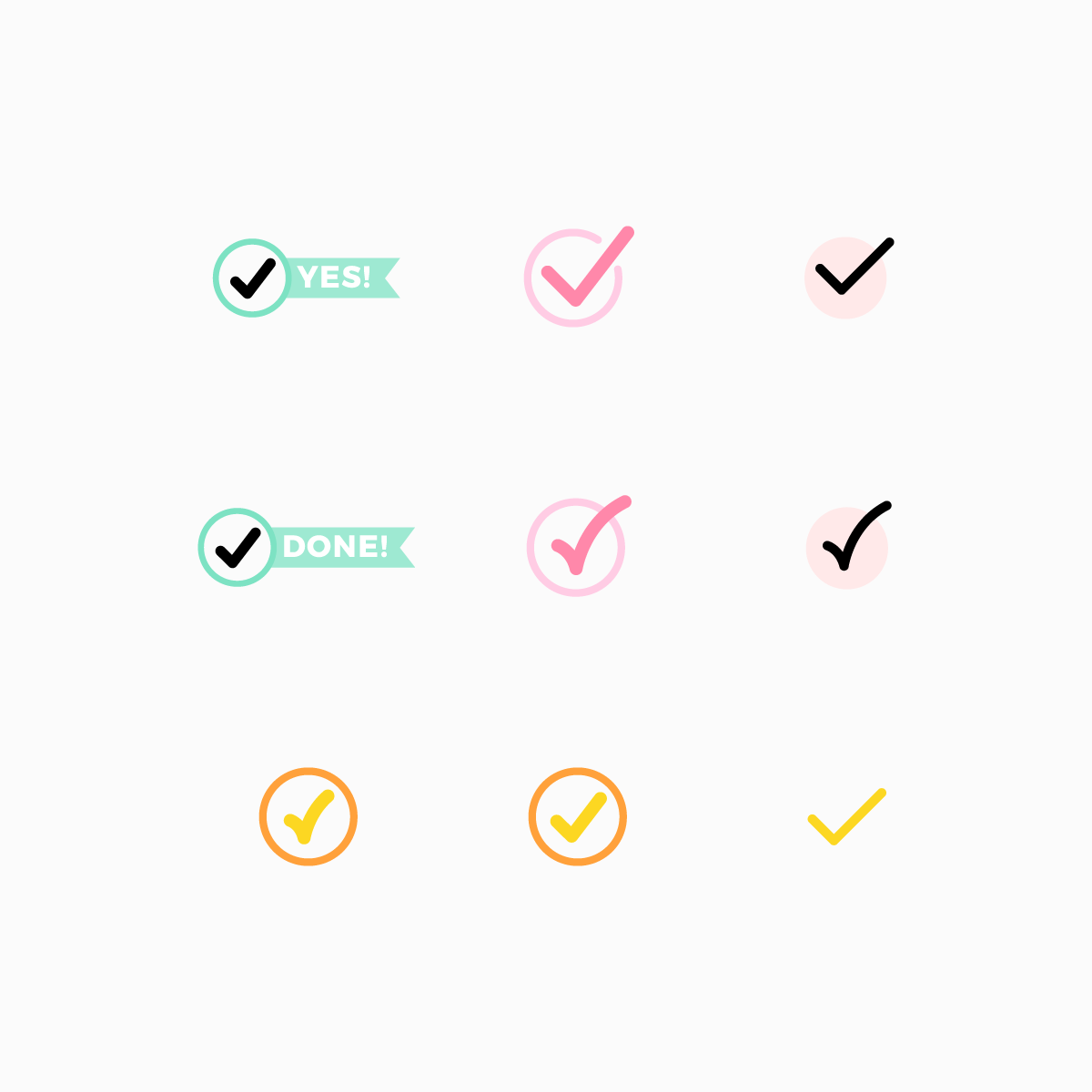 Checkmarks Icon Set