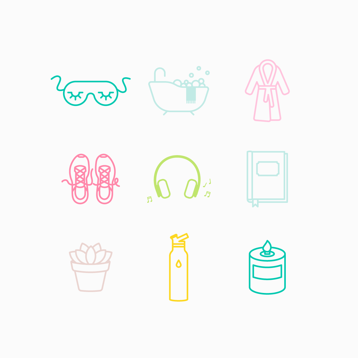 Self Care Icon Set
