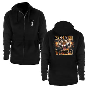 Eye Of The Tiger Zip Up Hoodie