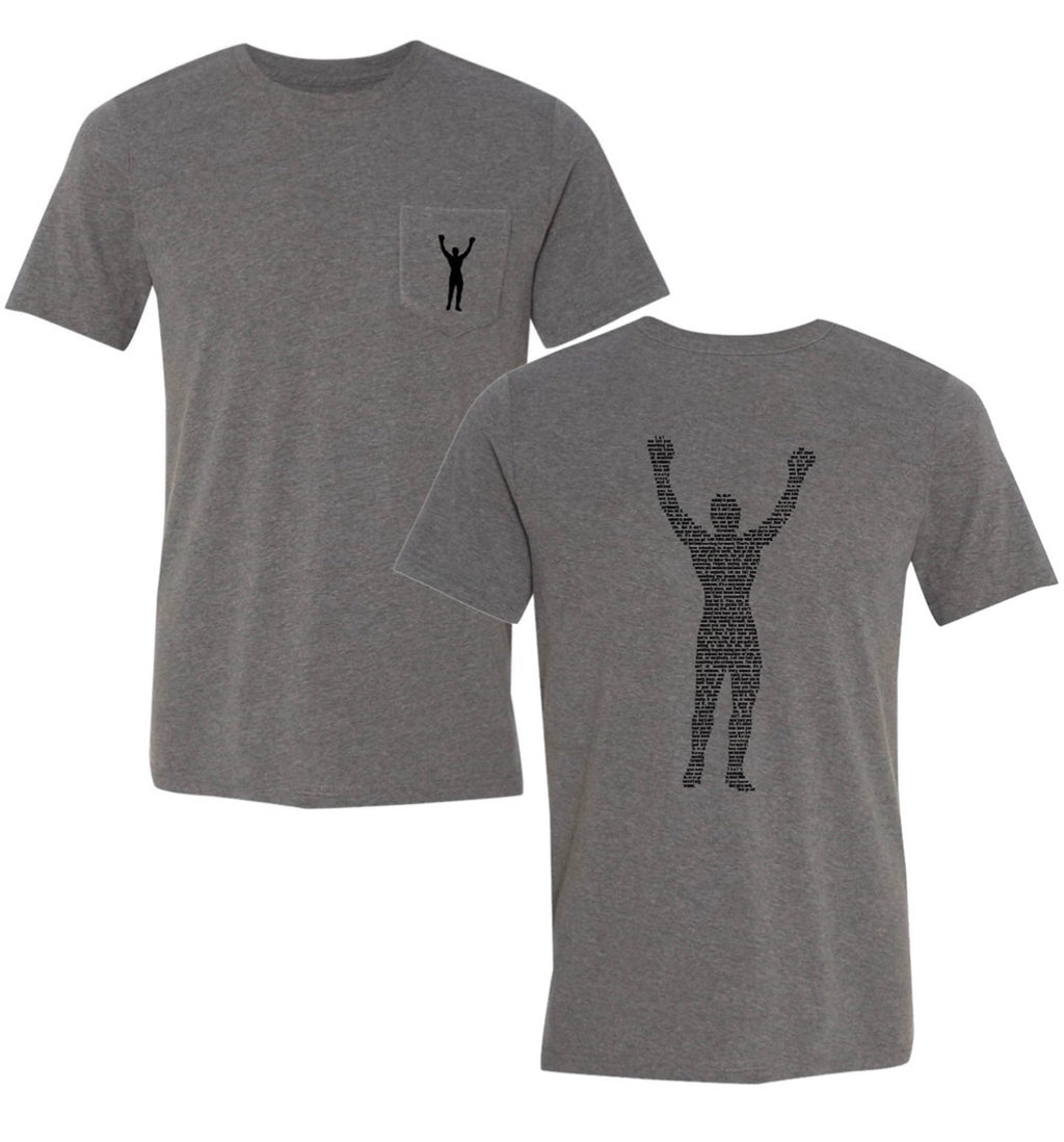 Rocky Statue Speech Gray Tee