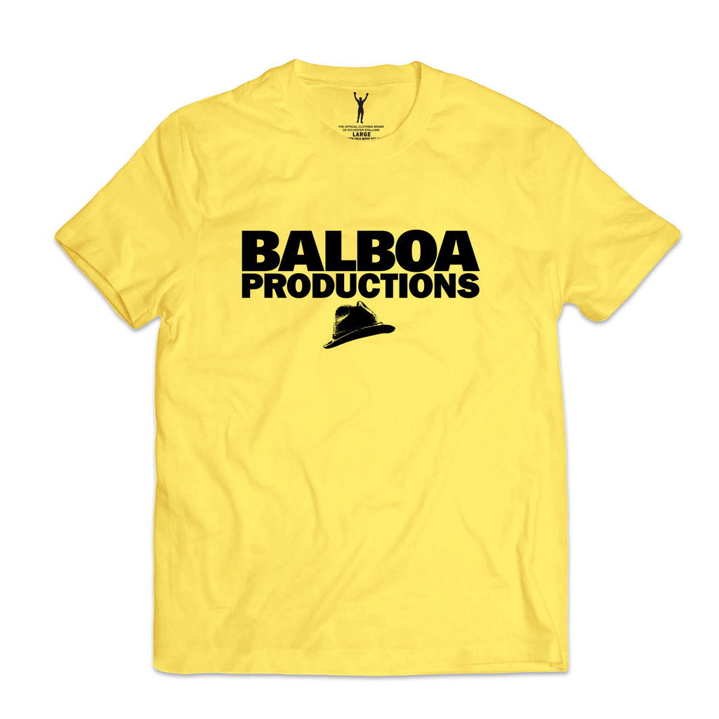 Balboa Productions Fedora Yellow Tee