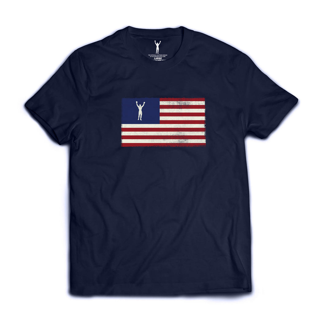 Rocky Statue Flag Tee