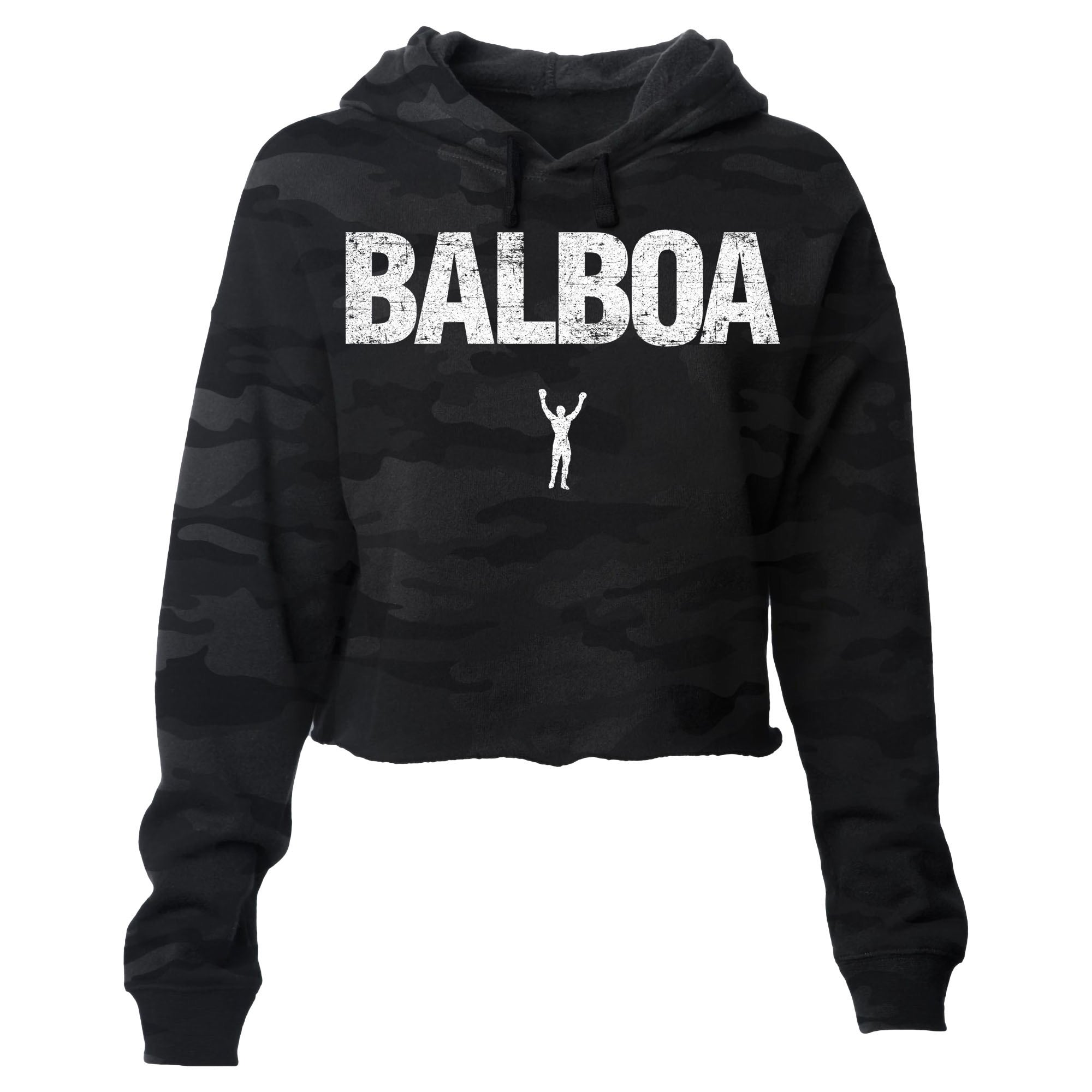 BALBOA Camo Cropped Pullover Hoodie