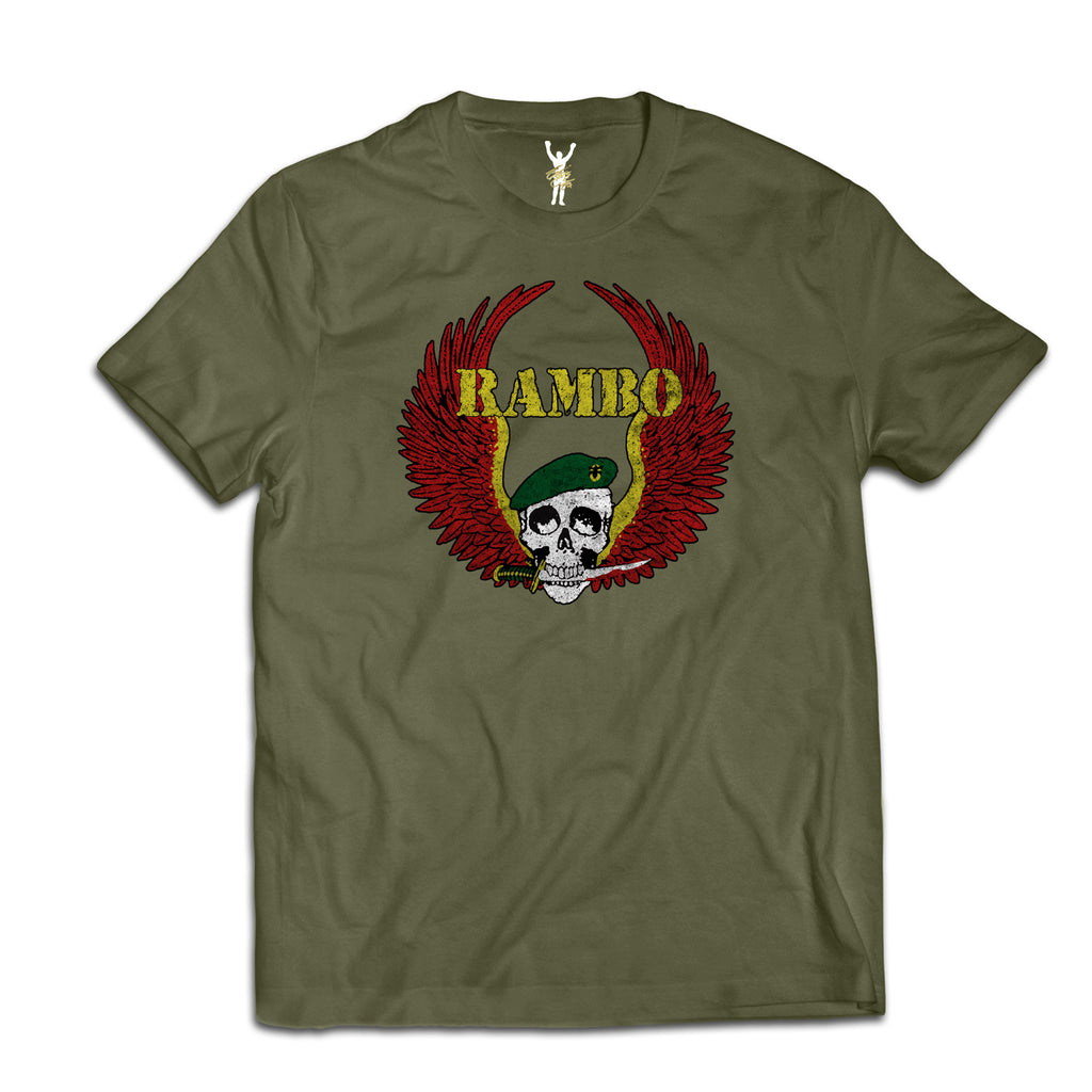Rambo Cast & Crew Military Green Tee