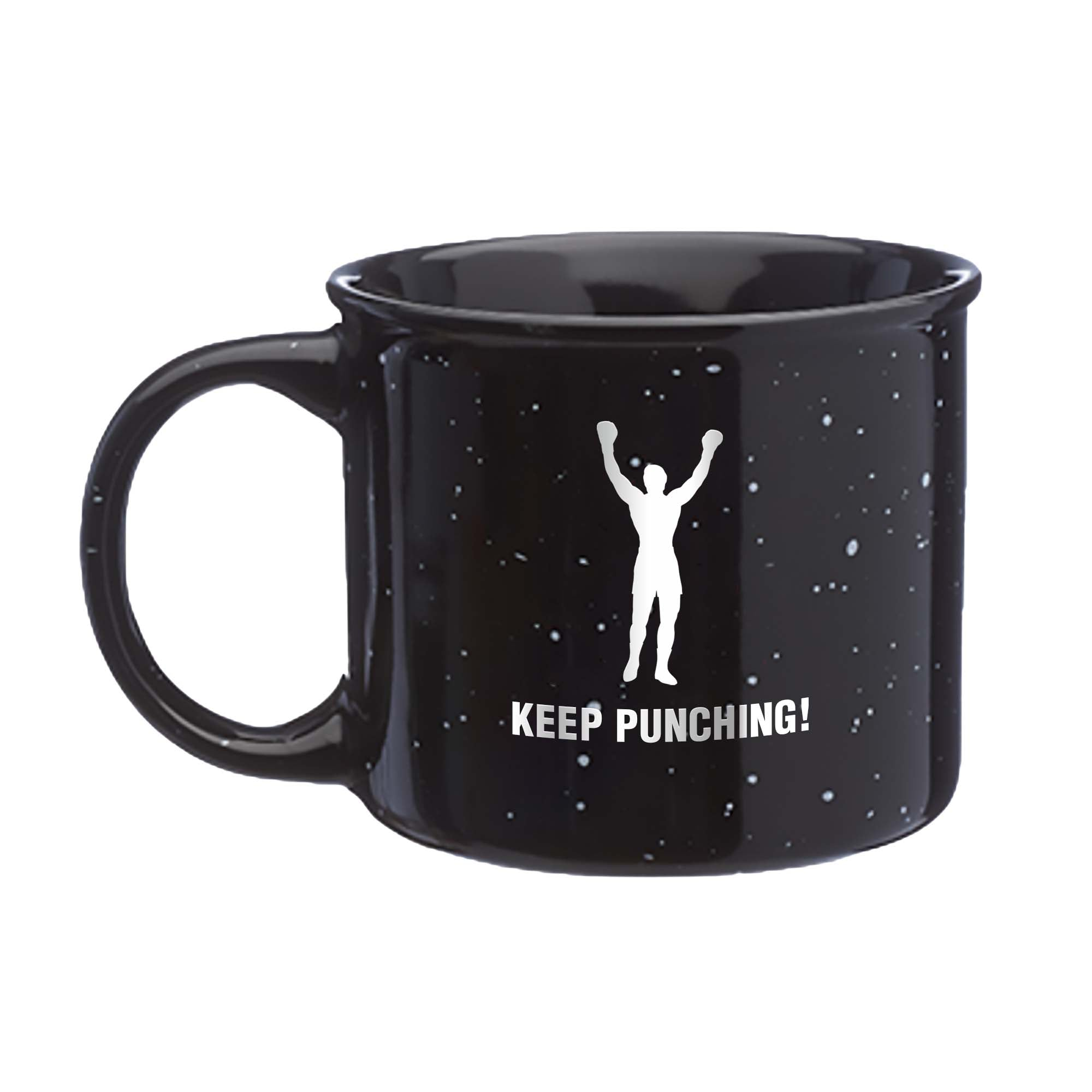 KEEP PUNCHING! Ceramic Coffee Mug