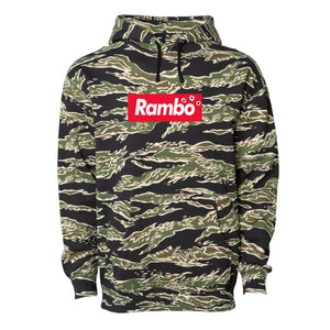 Rambo Tiger Camo Pullover Hoodie