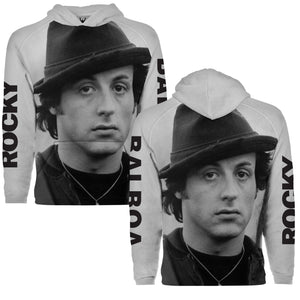 Rocky Fedora Sublimation Pullover Hoodie