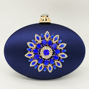 Flower Crystal Clutch Bag