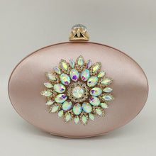 Load image into Gallery viewer, Flower Crystal Clutch Bag