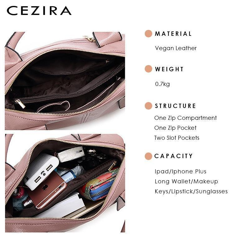 🔥60% OFF-Last day promotion🔥CEZIRA Luxury Vegan Leather Shoulder Bags for Women【Buy 2 Free Shipping-Save $9.99】