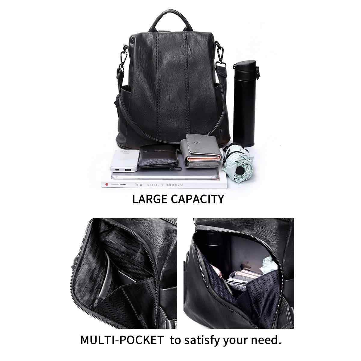 Aline™ Anti-Theft Backpack-Shoulder Bag with Extra Large Capacity