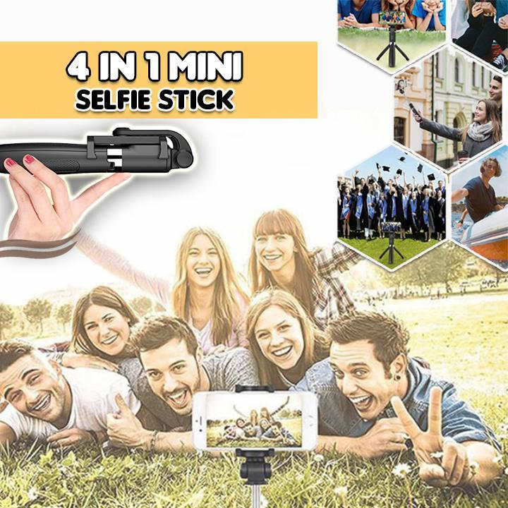 🔥100 items at the lowest price $16.99🔥4 in 1 Wireless Bluetooth Selfie Stick(Buy 2 Free Shipping,Save $9.99)