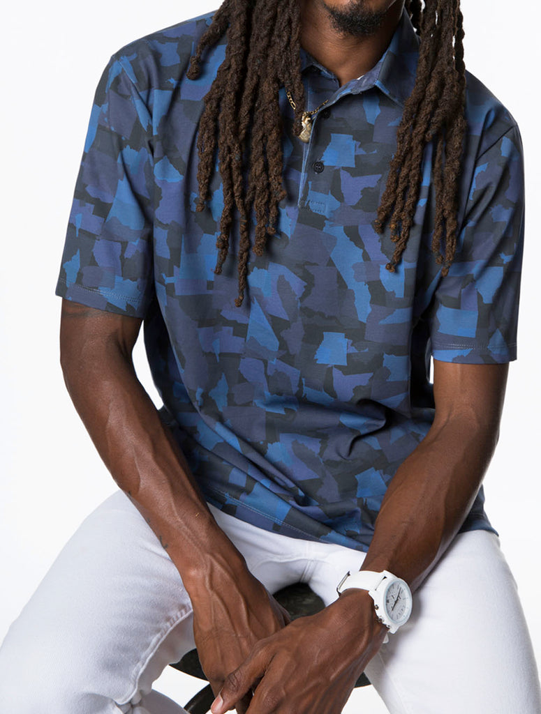 AVIATOR BLUE USC Camo Polo