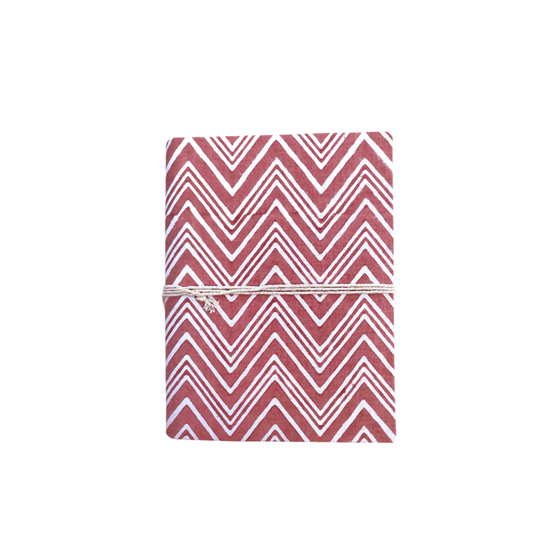 Carnet chevrons Rouge