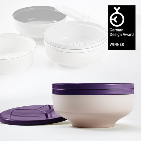 EVA bowl set - Aubergine