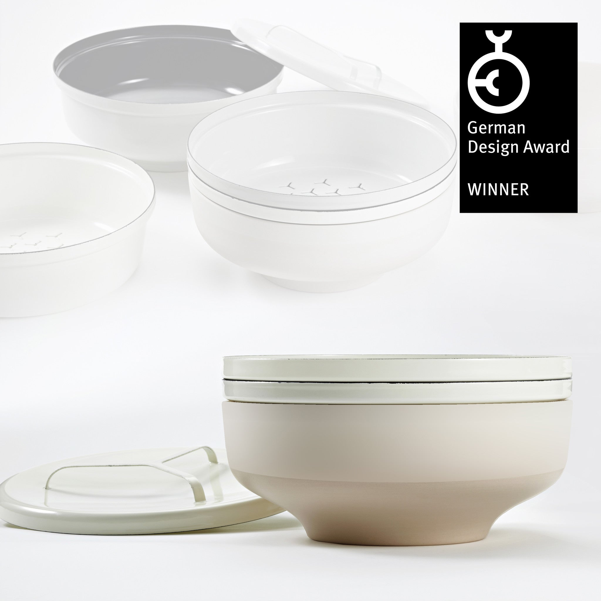 EVA bowl set - Off-White/Nude