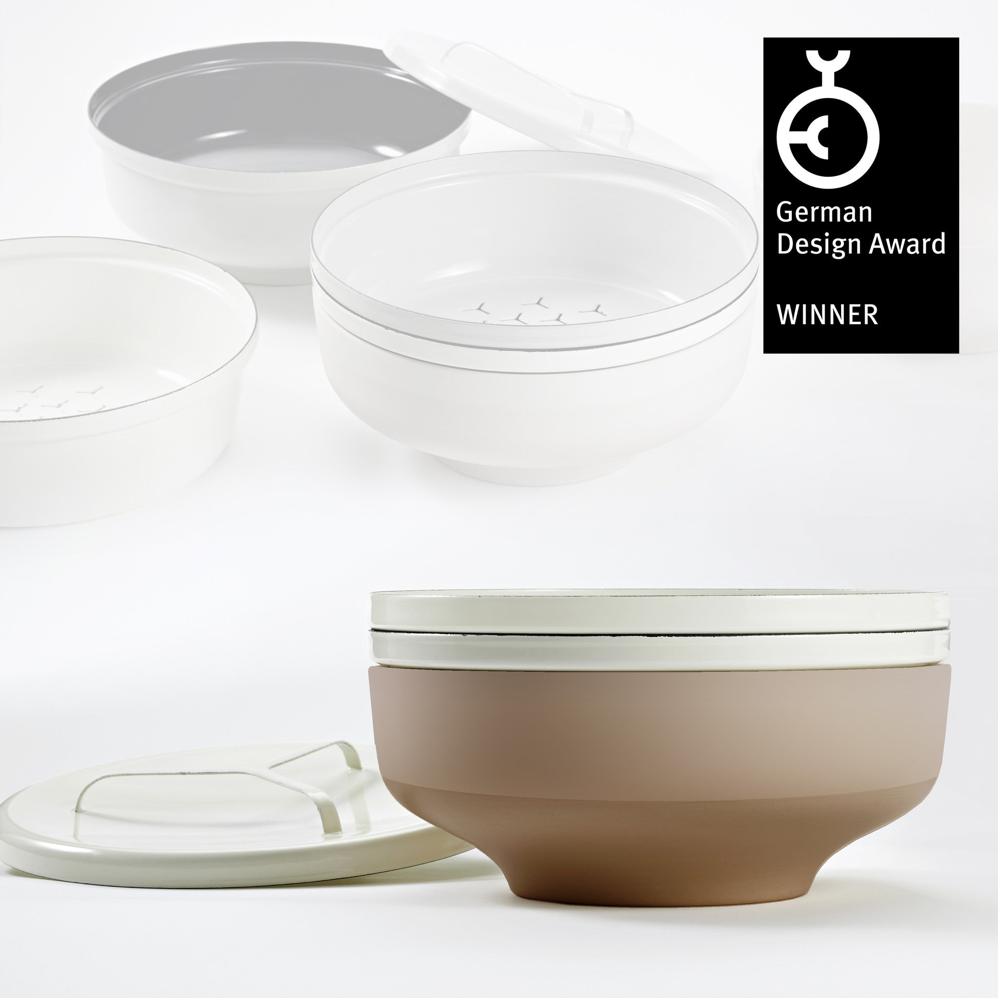 EVA bowl set - Off-White/Terra