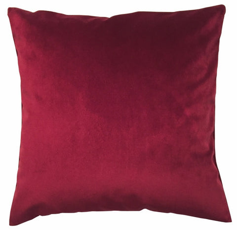 Kissenhülle French Velvet Samt bordeaux