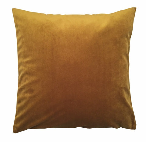 Kissenhülle French Velvet Samt gold 40x40cm