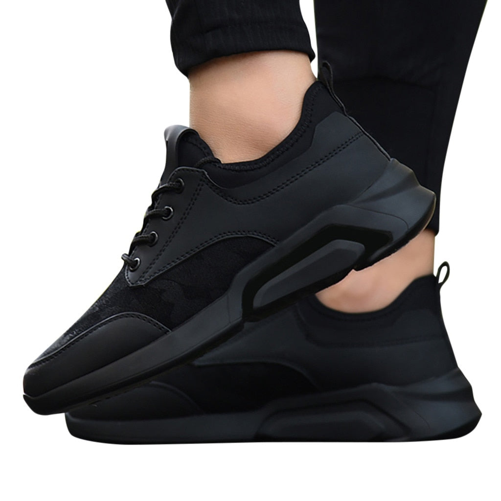 Trendy & Casual Black Lightweight Sneakers - The Geek Apparel